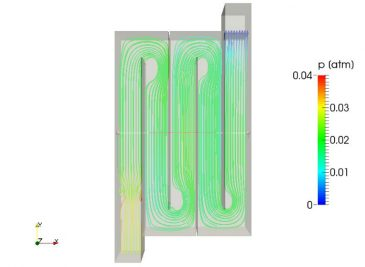 CFD model of disinfection tank