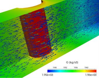 CFD modelling storage for disinfection